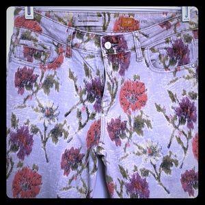 Pilcro and the Letterpress watercolor floral pants